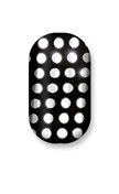 Black & Silver Polka Dots