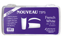 Nouveau Tips French White 150 pack