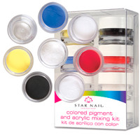 Star Nail Pigment Kit (gel or acrylic pigment)
