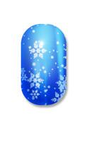 Blue Lightning Snow Flakes