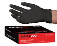 Black Nitrile Gloves 100