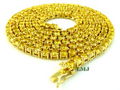 "1 Row 36"" Yellow Lemonade Lab Made Diamond Tennis Chain (Clear-Coated)"