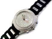 """White """"Super Fully Loaded Classic"""" Watch with silicone band (Clear-Coated Bezel)"""