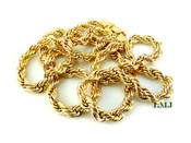 "30"" Gold Plated Rope Chain - 6mm (Clear-Coated)"