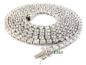 "1 Row 36"" White Lab Made Diamond Tennis Chain (Clear-Coated)"