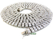 "2 Row 36"" White Lab Made Diamond Tennis Chain (Clear-Coated)"