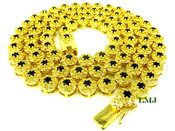 "1 Row 26"" Yellow and Black Lab Made Diamond 3D Cluster Chain (Clear-Coated)"