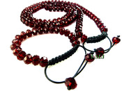 Ruby Red Lab Made Disco Ball 10mm Bead Bracelet + Chain combo (Adjustable)