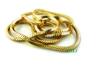 "36"" Gold Plated Snake Chain - 6mm"