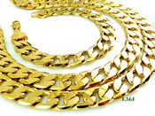 "COMBO DEAL! 30"" 14K Gold Plated Cuban Box Link Chain + 8.25"" Bracelet - 12mm (1/2"") wide (Clear-Coated)"