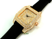 """14K Rose Gold tone """"Fully Loaded Carter"""" watch (Clear-Coated)"""