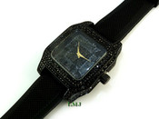 "All Black ""Fully Loaded Carter"" watch (Clear-Coated)"