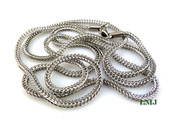 "36"" Stainless Steel Silver Tone Franco Chain - 2.5mm"