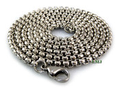 "24"" Stainless Steel Silver Tone ""Yurman"" Chain - 2mm"