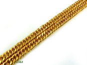 "18K Gold tone ""Miami Micro"" Cuban Link 24"" Chain - 5mm wide (Clear-Coated)"