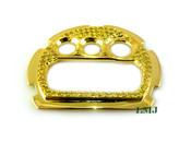 All Yellow Custom G-Shock DW6900 Lab Made Diamond Face Plate w/Micro-Pave setting