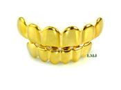 Universal Fit 14K Gold tone Top + Bottom Grilles (Clear-Coated)