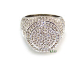 """White Lab Made Diamond """"Capitol"""" Ring (Clear-Coated)"""