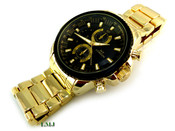 """Gold Stainless Steel """"Business Man"""" watch (Clear-Coated)"""