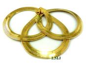 "24"" Gold Plated Thick Herringbone Chain - 8mm wide (Clear-Coated)"