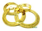 "20"" Gold Plated Thick Herringbone Chain - 8mm wide (Clear-Coated)"