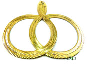 "30"" Gold Plated Thick Herringbone Chain - 1/2"" wide (Clear-Coated)"