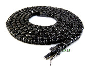 "1 Row 36"" Black Lab Made Diamond Tennis Chain (Clear-Coated)"