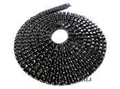 "2 Row 36"" Black Lab Made Diamond Tennis Chain (Clear-Coated)"