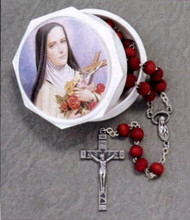 Rose Petal Rosary in St Therese Box