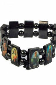 Hematite Saints Bracelet