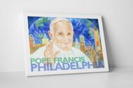 Perry Milou Artwork- Pope Francis Philadelphia Skyline