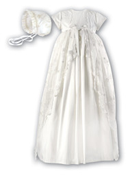 Christening Gown w/ Bonnet (00133as)