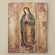 "17"" Decorative Wall Panel of Our Lady of Guadalupe -medium density fiberboard decorative panel. 17""H X 13""W X 1.38D"