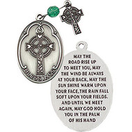 """Pocket token with Celtic Cross and an Irish Blessing in its entirety on reverse side. """"May the road rise up to meet you....and God hold you in the palm of his hand."""""""