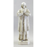 "Fiberglass indoor statue. Dimensions: 17.0""W x 13.0""Dx  50.0""H. Prices based on white or colored statue.  Please call 1 800 523 7604 for all other finish styles, shipping costs and pricing.  Statues are custom made Please allow at 4-8 weeks for delivery."