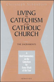 Volume 2 (of 4 Volumes), The Sacraments  Cardinal Schonborn, the editor of the monumental Catechism of the Catholic Church, a worldwide best seller, provides a brief and profound commentary on the first part of the Catechism, the Creed. Schonborn gives an incisive, detailed analysis of the Creed, providing a specific meditation for each week of the year on how to better live the Catholic faith as expressed in the Creed and explained in the Catechism. Through these 52 meditations, Schonborn's hope is for the reader to not just have a better grasp of Catholic doctrine and belief, but especially to grow in a greater love of and devotion to the person of Jesus Christ. Also available are Volumes 2,3 & 4.