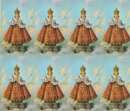"The Infant of Prague paper holy card from the Bonella Line.  Bonella artwork is known throughout the world for its beautiful renditions of the Christ, Blessed Mother and the Saints. 8 1/2"" x 11"" sheets with tab that separates into 8- 2 1/2"" x 4 1/4"" cards.  No charge for personalization.  Can be laminated at an additional cost.  ( Price per sheet of 8)"