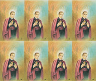 "St. John Neumann personalized Prayer Cards.  8 1/2"" x 11"" sheets with tab that separates into 8- 2 1/2"" x 4 1/4"" c cards that can be personalized. Cards can be laminated at an additional cost.  (Price per sheet of 8)"