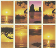"Assorted sunset scenes personalized Prayer Cards.  8 1/2"" x 11"" sheets with tab that separates into 8- 2 1/2"" x 4 1/4"" c cards that can be personalized. Cards can be laminated at an additional cost.  (Price per sheet of 8)"