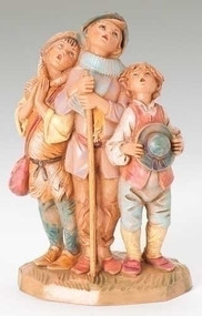 "5""Scale, the Shepherds Choir Fontanini Nativity figure. Unbreakable polymer."