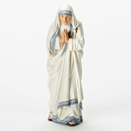 """5.5""""H St. Mother Teresa Statue.  Made of a resin/stone mix. Dimensions: 5.5""""H X 2""""W. Canonization Date: September 4th, 2016 Feast Day: September 5"""