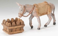 "Fontanini 5"" Scale Mary's Donkey. 3 Piece set. Material: Polymer"