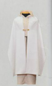 "A Humeral for Altar servers so they are able to hold and not touch the Mitre and Crozer of a Bishop.  Made out of the #470 polyester in white or off white. They are 20"" x 100"" with the pockets inside for their hands and close with the same clasps used on copes. Custome embroidery available. Please call for quote"