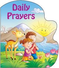 Daily Prayers is one of four in the series of St. Joseph Sparkle Books. This series of board books adds a bit of wonder to a child's day with a combination of foil-stamping and sparkle on the cover and expressive, colorful illustrations throughout. Daily Prayers helps children to be aware of God's love for them and to pray for God's many gifts to them throughout the day. Perfect as a gift for God's littlest Catholics! CPSIA compliant.14 pages, 5 1/2 X 6 11/16  ~ Illustrated and Padded Cover