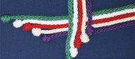 "81"" Braided Cotton Rope Cinctures for Alter Servers in Natural, Green, Red, White & Purple"