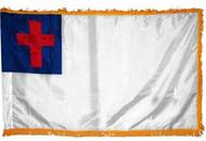 Christian Flag with Gold Fringe (Flag Only)