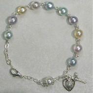 Rosary Bracelet - Multicolor Pearl