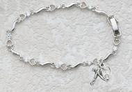 Cubic Zirconia Heart Bracelet