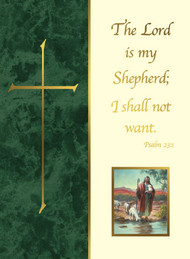 The Lord is My Shepherd Deceased Mass Cards  50 Ct. For Church Use Only