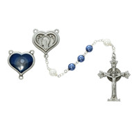 Blue and Pearl Rosary  365DF